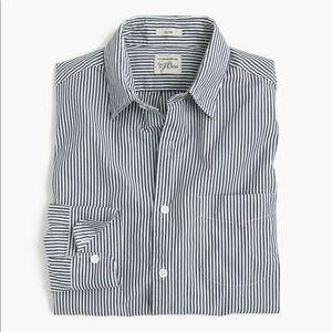 J. Crew Slim Secret Wash shirt in navy stripe